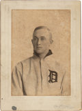 Baseball Collectibles:Photos, 1907 Ty Cobb Original Studio Cabinet Photograph by Carl Horner from The Ty Cobb Collection, PSA/DNA Type 1....
