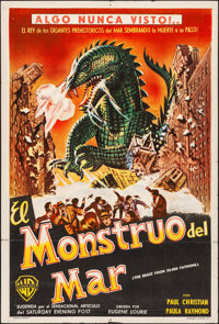 """The Beast from 20,000 Fathoms (Warner Brothers, 1953). Folded, Very Fine-. Argentinean One Sheet (29"""" X 43"""")..."""