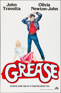 """Movie Posters:Musical, Grease (Paramount, 1978). Folded, Very Fine. One Sheet (29"""" X 45"""") Advance. Musical.. ..."""