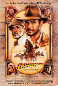 """Indiana Jones and the Last Crusade (Paramount, 1989). Folded, Very Fine. One Sheet (27"""" X 41"""") SS, Advance, St..."""