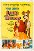 """Movie Posters:Animation, Lady and the Tramp (Buena Vista, R-1972). Folded, Fine/Very Fine. One Sheet (27"""" X 41""""). Animation.. ..."""