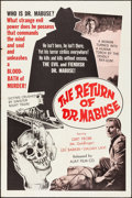 """Movie Posters:Foreign, The Return of Dr. Mabuse & Other Lot (Ajay, 1966). Folded, Very Fine-. One Sheets (2) (27"""" X 41""""). Foreign.. ... (Total: 2 Items)"""