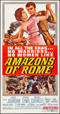 """Movie Posters:Adventure, Amazons of Rome (United Artists, 1963). Folded, Very Fine+. Three Sheet (41"""" X 79""""). Adventure.. ..."""