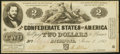 Confederate Notes:1862 Issues, T42 $2 1862 Extremely Fine-About Uncirculated.. ...