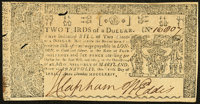 Maryland April 10, 1774 $2/3 About New