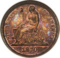 Patterns, 1870 10C Ten Cents, Judd-833, Pollock-923, R.6-7, PR66 Red and Brown NGC. CAC....