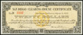 San Diego, CA- San Diego Clearing House Certificate $20 Mar. 6, 1933 Choice Crisp Uncirculated