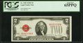 Small Size:Legal Tender Notes, Fr. 1508 $2 1928G Legal Tender Note. PCGS Gem New 65PPQ.. ...