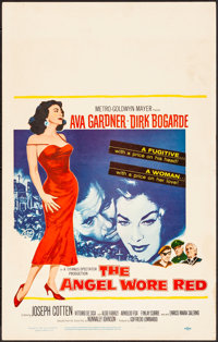 "The Angel Wore Red (MGM, 1960). Very Fine-. Window Card (14"" X 22""). War"