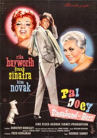 "Pal Joey (Columbia, 1958). Folded, Very Fine-. German A1 (23"" X 33"") Bruno Rehak Artwork. Musical"