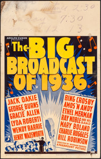 "The Big Broadcast of 1936 (Paramount, 1935). Fine+. Window Card (14"" X 22""). Musical"