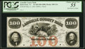 Obsoletes By State:Vermont, Hyde Park, VT- Lamoille County Bank $100 May 21, 1855 Proof G16 PCGS Choice About New 55, 4 HPCs.. ...