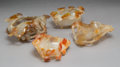 Carvings, Four Chinese Agate Brush Washers, 19th-20th century. 2-1/2 x 7 x 5-1/4 inches (6.4 x 17.8 x 13.3 cm) (largest). ... (Total: 4 Items)