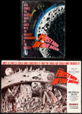 """Movie Posters:Science Fiction, First Men in the Moon (Columbia, 1964). Folded, Fine/Very Fine. Uncut Pressbook (16 Pages, & 17"""" X 11"""") & Promo (9.25"""" X 12.... (Total: 2 Items)"""