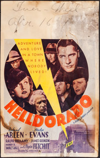 "Helldorado (Fox, 1935). Very Good/Fine. Window Card (14"" X 22""). Drama"