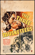 "Movie Posters:Swashbuckler, The Three Musketeers (RKO, 1935). Fine-. Window Card (14"" X 22""). Swashbuckler.. ..."
