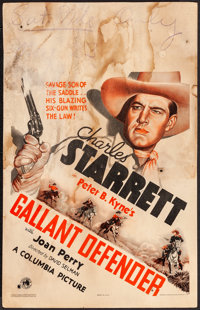 "Gallant Defender & Other Lot (Columbia, 1935). Very Good+. Window Cards (2) (14"" X 22""). Western..."