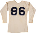 Football Collectibles:Uniforms, Early 1940's Bobby Layne Highland Park (TX) High School Game Worn Jersey....
