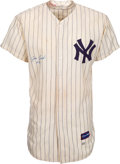 Baseball Collectibles:Uniforms, 1961 Jim Coates Game Worn & Signed New York Yankees Jersey, MEARS A7.5....