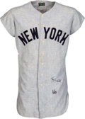 Baseball Collectibles:Uniforms, 1966 Roy White Game Worn & Signed New York Yankees Jersey....
