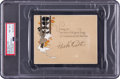 """Baseball Collectibles:Others, Circa 1927 """"Babe"""" Ruth Signed Christmas Card, PSA/DNA NM-MT 8...."""