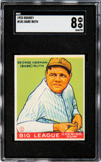 1933 Goudey Babe Ruth #181 SGC NM-MT 8