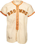 Baseball Collectibles:Uniforms, 1939 Don Heffner Game Worn St. Louis Browns Uniform....