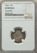 1833 10C -- Cleaned -- NGC Details. XF. NGC Census: (19/251). PCGS Population: (53/364). XF40. Mintage 485,000