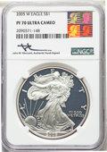 2005-W $1 Silver Eagle PR70 Ultra Cameo NGC. This lot will also include the following: 2006-W $1 Silver Eagle PR70 Ult...
