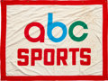 Football Collectibles:Others, Circa 1970 Monday Night Football ABC Sports Banner....