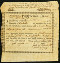 Colonial Notes:Pennsylvania, Pennsylvania Interest Bearing Certificate £47.10s Aug. 17, 1780 Anderson PA-2 Very Fine. . ...