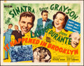 """Movie Posters:Musical, It Happened in Brooklyn (MGM, 1947). Folded, Fine/Very Fine. Half Sheet (22"""" X 28"""") Style B. Musical.. ..."""