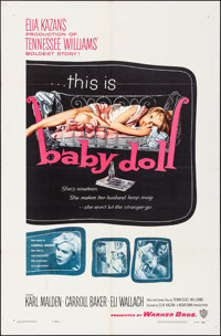 "Baby Doll (Warner Brothers, 1957). Folded, Very Fine-. One Sheet (27"" X 41""). Drama"