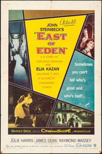 "East of Eden (Warner Bros., 1955). Folded, Fine/Very Fine. One Sheet (27"" X 41""). Drama"