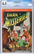 Golden Age (1938-1955):Horror, Dark Mysteries #21 (Master Publications, 1954) CGC FN+ 6.5 Light tan to off-white pages....