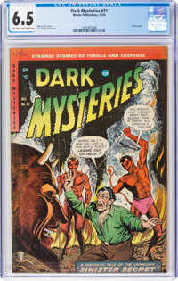 Dark Mysteries #21 (Master Publications, 1954) CGC FN+ 6.5 Light tan to off-white pages