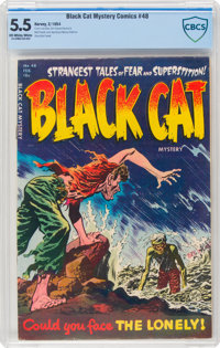 Black Cat Mystery #48 (Harvey, 1954) CBCS FN- 5.5 Off-white to white pages