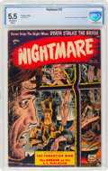 Golden Age (1938-1955):Horror, Nightmare #12 (St. John, 1954) CBCS FN- 5.5 Off-white to white pages....