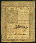 Colonial Notes:Delaware, Delaware January 1, 1776 18d Very Fine.. ...
