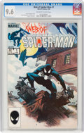 Modern Age (1980-Present):Superhero, Web of Spider-Man #1 (Marvel, 1985) CGC NM+ 9.6 Off-white to white pages....