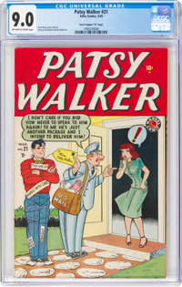 """Patsy Walker #21 Davis Crippen (""""D"""" Copy) Pedigree (Atlas, 1949) CGC VF/NM 9.0 Off-white to white pages"""
