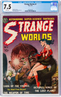 Golden Age (1938-1955):Science Fiction, Strange Worlds #2 (Avon, 1951) CGC VF- 7.5 White pages....
