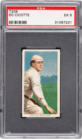 Baseball Cards:Singles (Pre-1930), 1909-11 T206 Sovereign 350 Ed Cicotte PSA EX 5 - Pop Two, One Higher for Brand/Series. ...