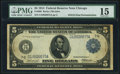 Fr. 868 $5/$10 1914 Federal Reserve Note PMG Choice Fine 15