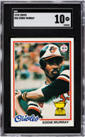 Baseball Cards:Singles (1970-Now), 1978 Topps Eddie Murray #36 SGC Gem Mint 10 - Pop Two, None Higher....