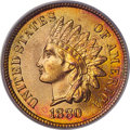 1880 1C MS66 Red PCGS. CAC. EX: Eagle Eye Photo Seal