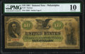 Large Size:Demand Notes, Fr. 7 $10 1861 Demand Note PMG Very Good 10.. ...