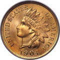 Indian Cents, 1904 1C MS67 Red PCGS. CAC....