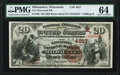 National Bank Notes:Wisconsin, Milwaukee, WI - $20 1882 Brown Back Fr. 499 The Wisconsin NB Ch. # (M)4817 PMG Choice Uncirculated 64.. ...