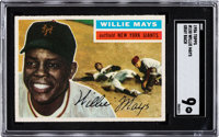 1956 Topps Willie Mays (Gray Back) #130 SGC Mint 9 - Pop Two, None Higher
